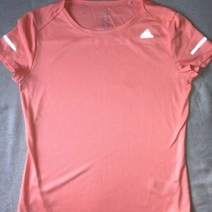 Medium Orange Adidas running shirt